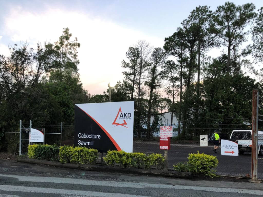 2017. AKD acquisition of Caboolture (Queensland) sawmill.