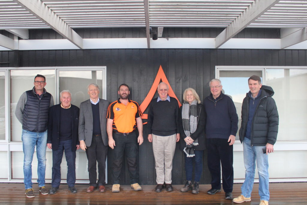 2017. Kilmour Board with Shane Vicary (CEO, AKD Softwoods) for annual site visit, AKD Colac.